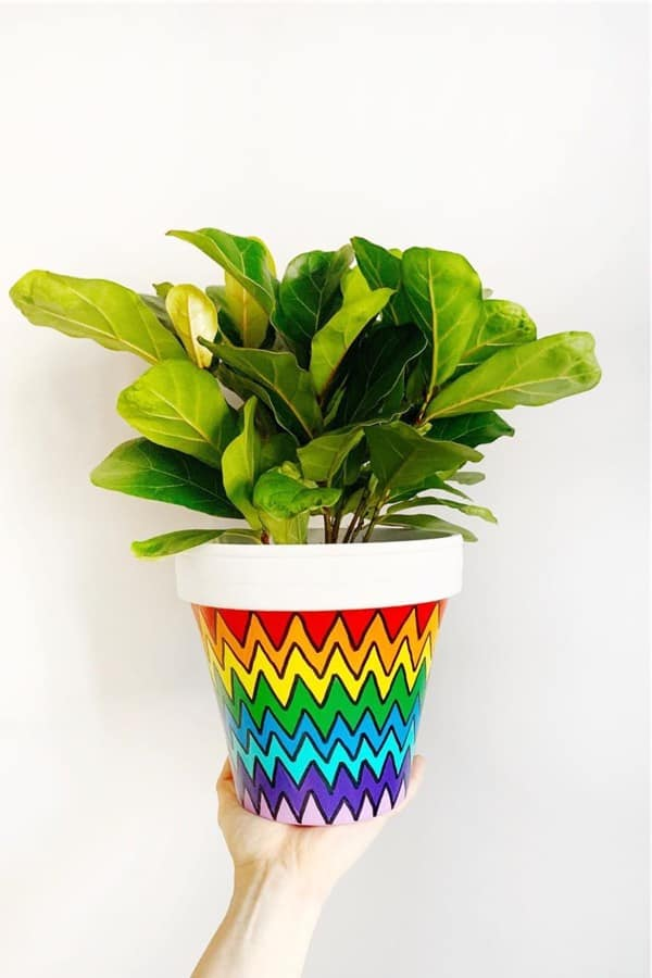 35 Super Creative Painted Flower Pots