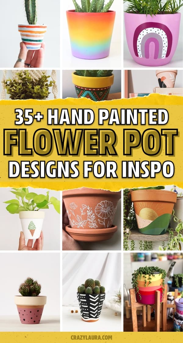 35 Super Creative Painted Flower Pots For 2020 Crazy Laura