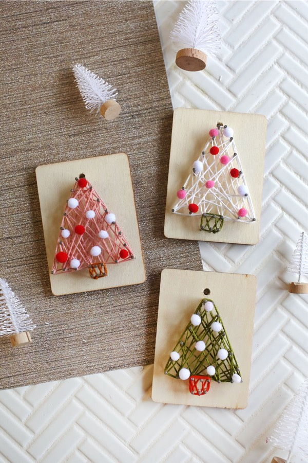 string craft diy christmas ornaments