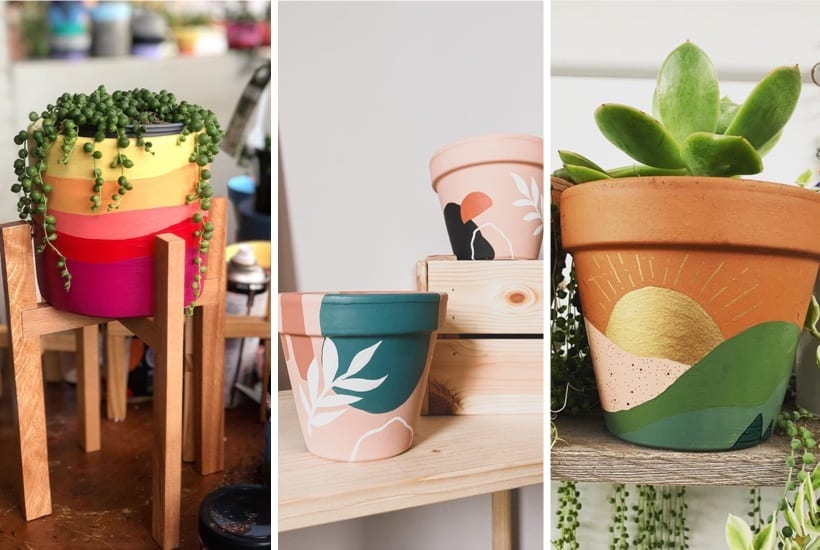 35 Super Creative Painted Flower Pots For 2020 Crazy Laura,Flower Easy Ganesh Rangoli Designs For Diwali