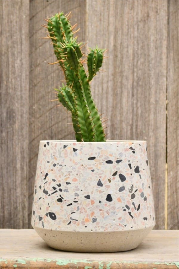flower pots with terrazzo