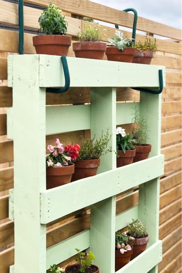 hanging pallet for flower planter
