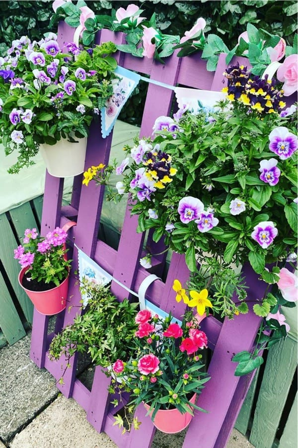 colorful pallet garden inspiration