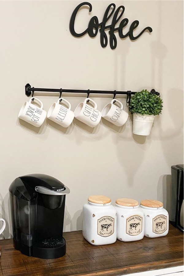 easy keurig coffee bar design