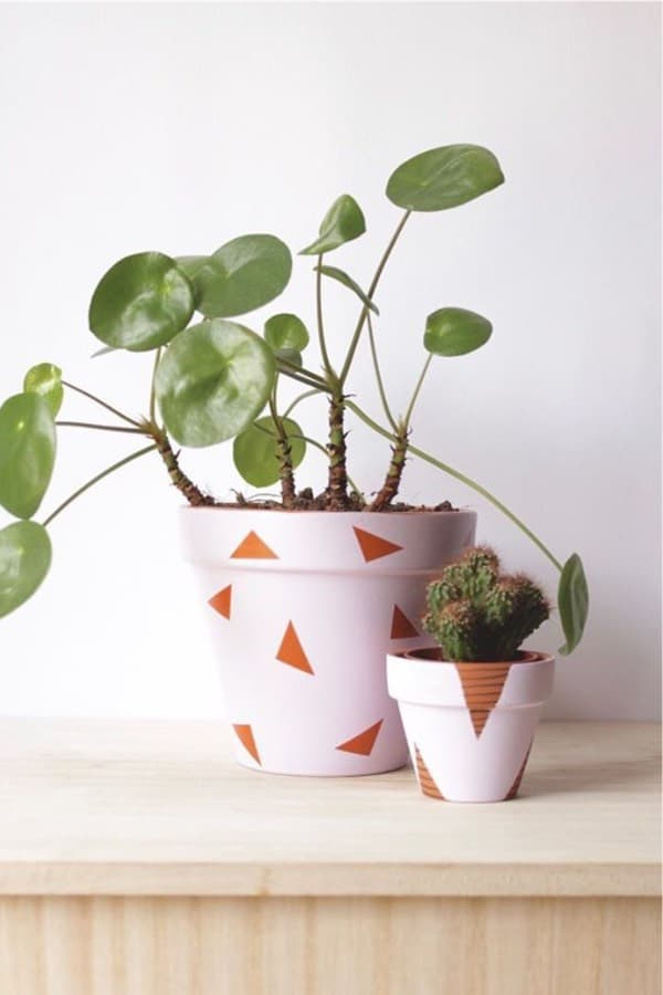 easy ideas for painted clay pots