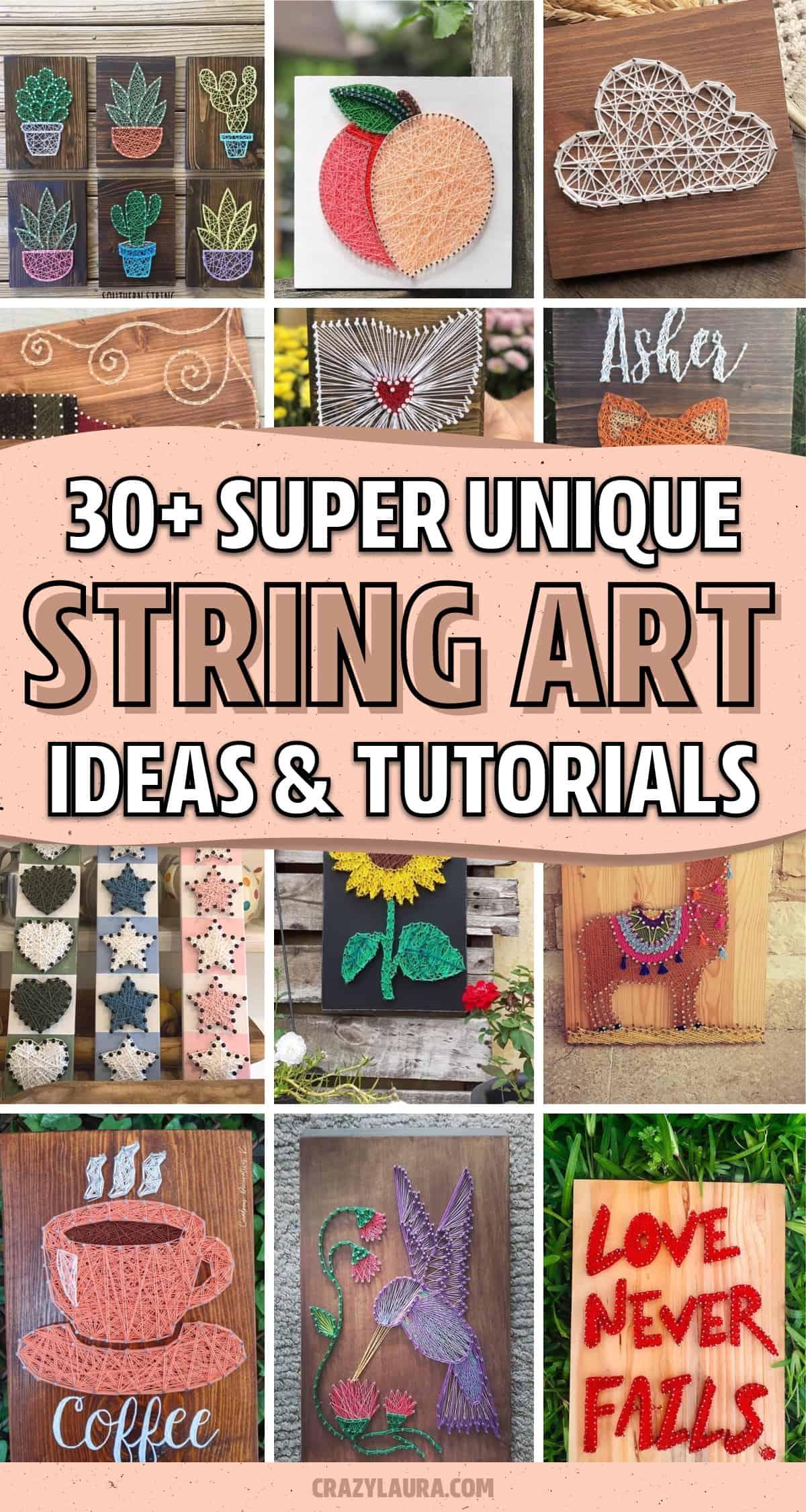 creative examples of yarn art