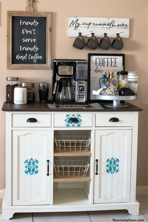 home coffee stand with chalkboard