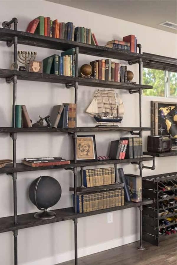 budget pipe shelves for books
