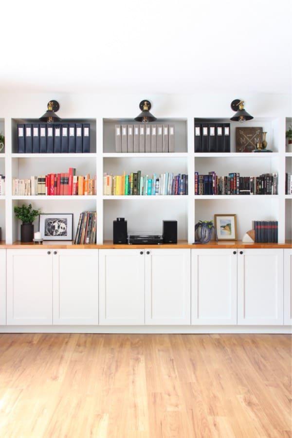 living room built in bookshelf inspiration