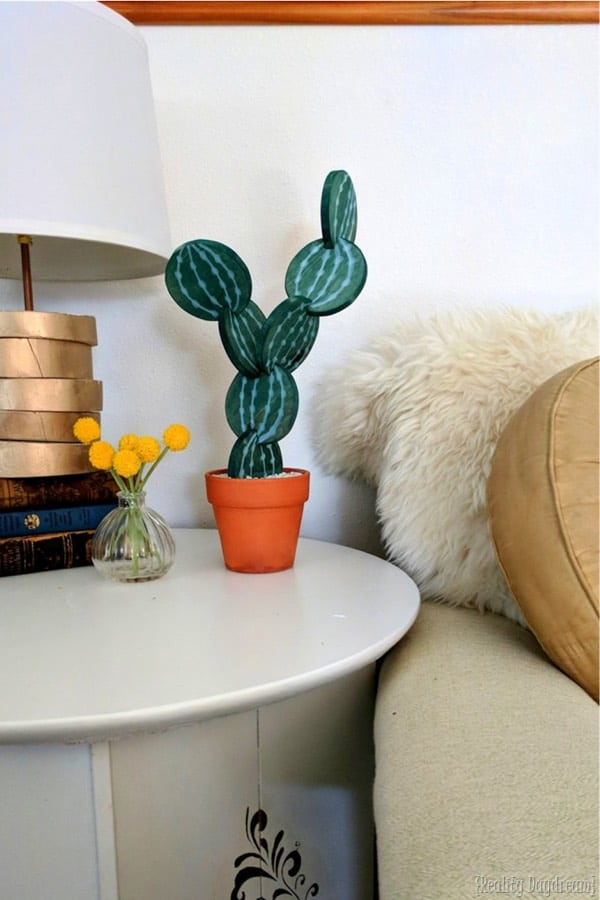 cactus themed diy coaster craft tutorial