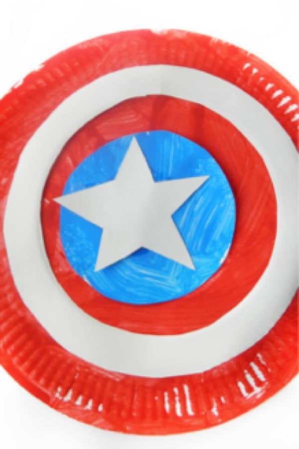 super hero paper plate craft tutorial