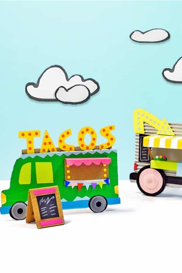 taco truck cardboard box craft idea