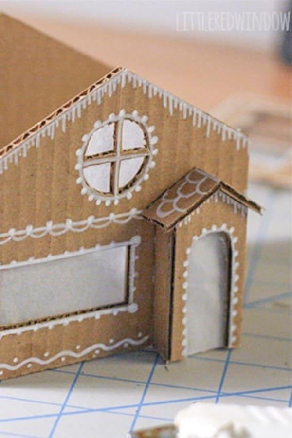 diy cardboard ginger bread craft tutorial