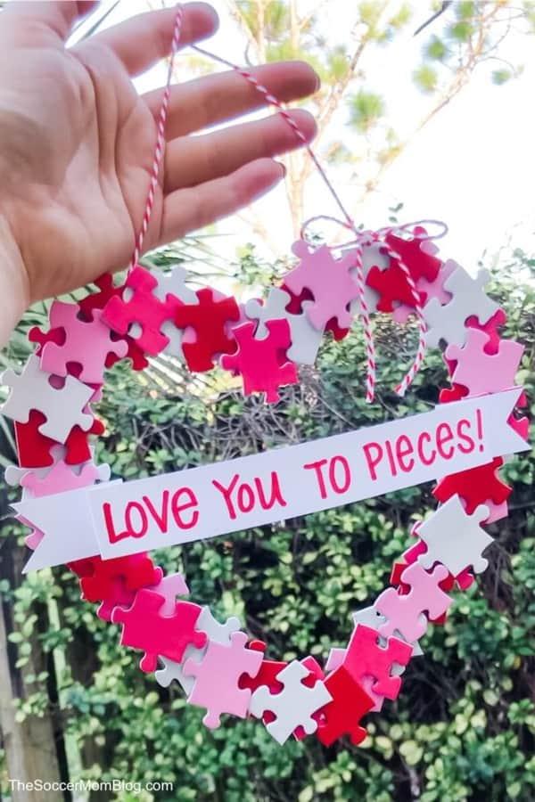 diy valentines craft with old cardboard