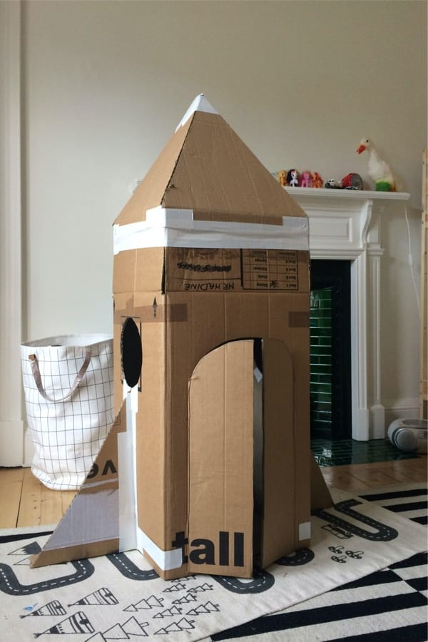 fun activity for kids with recycled cardboard box