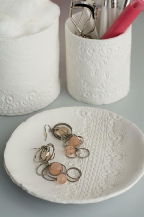fun diy craft with drying clay