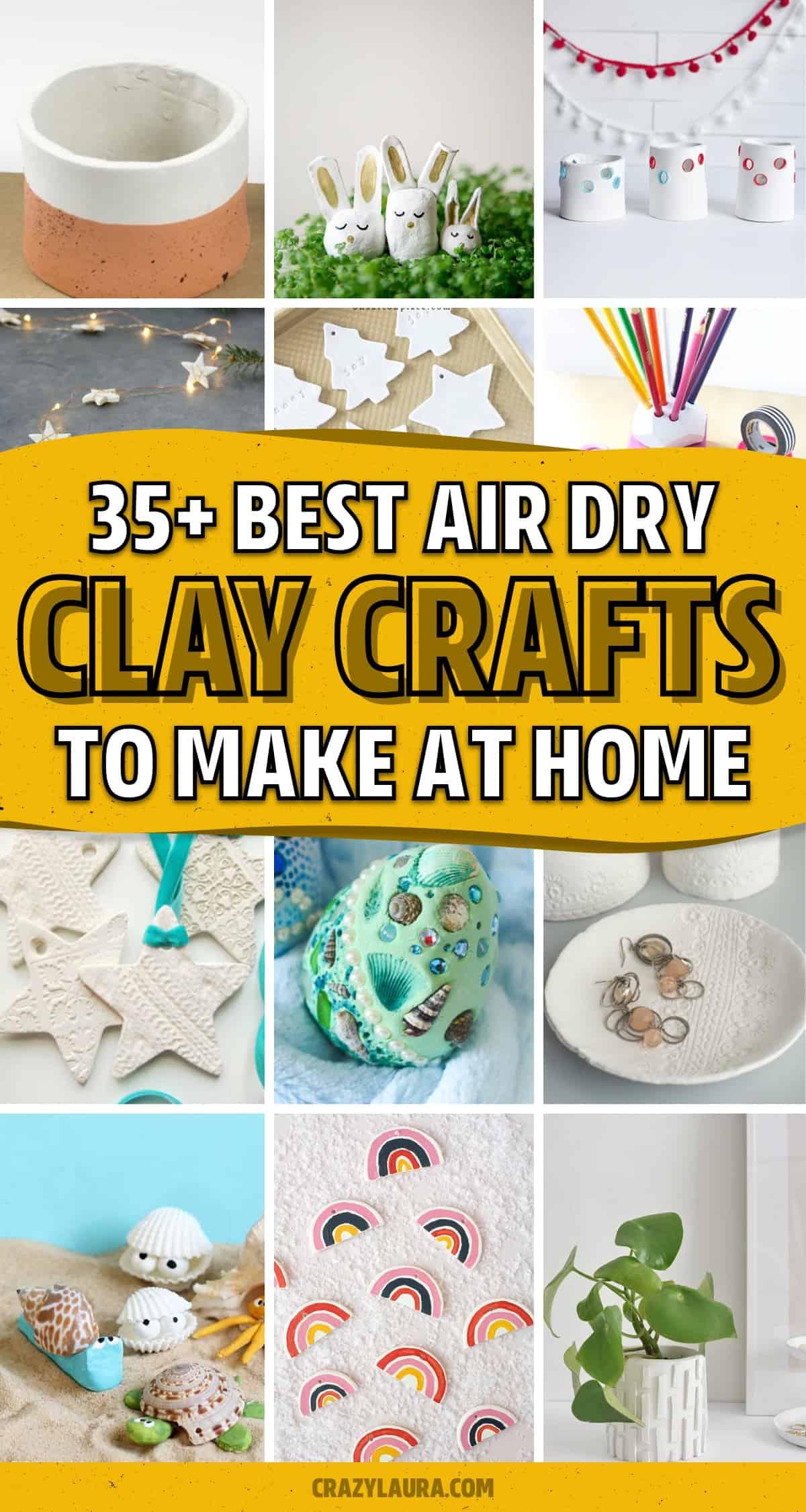 air dry crayola clay craft examples