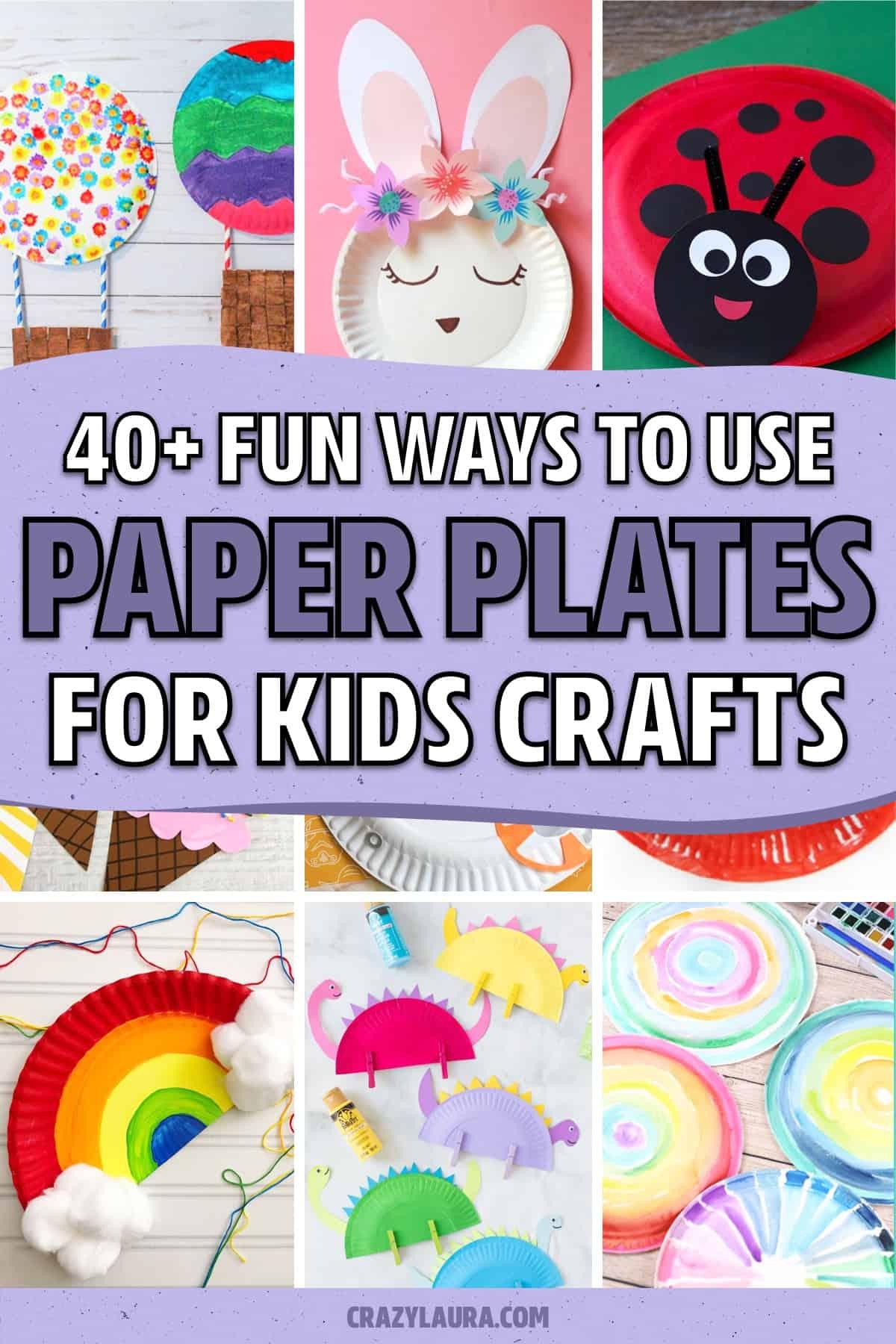 list of paper plate craft ideas