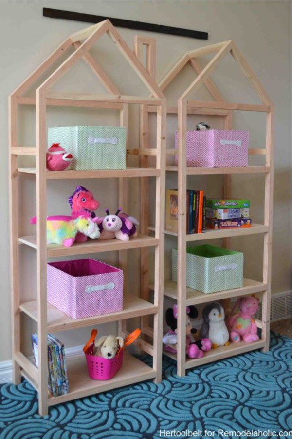 playroom bookshelf diy example