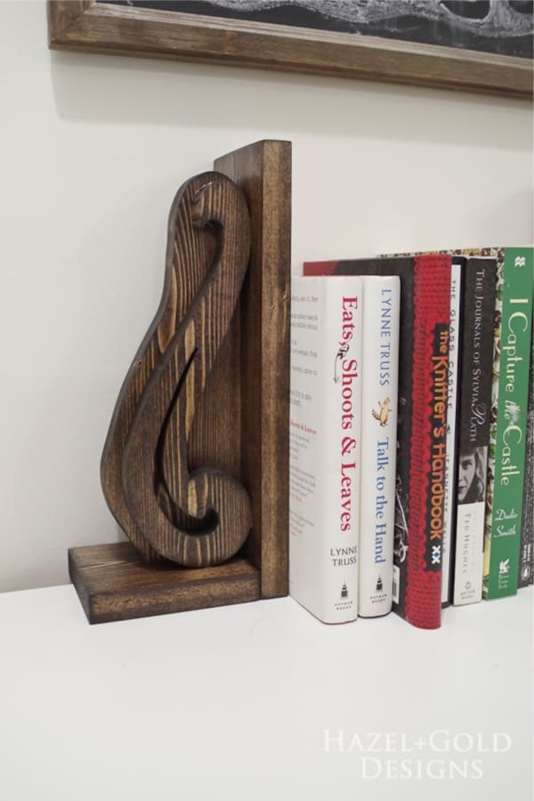 easy way to make wooden bookend
