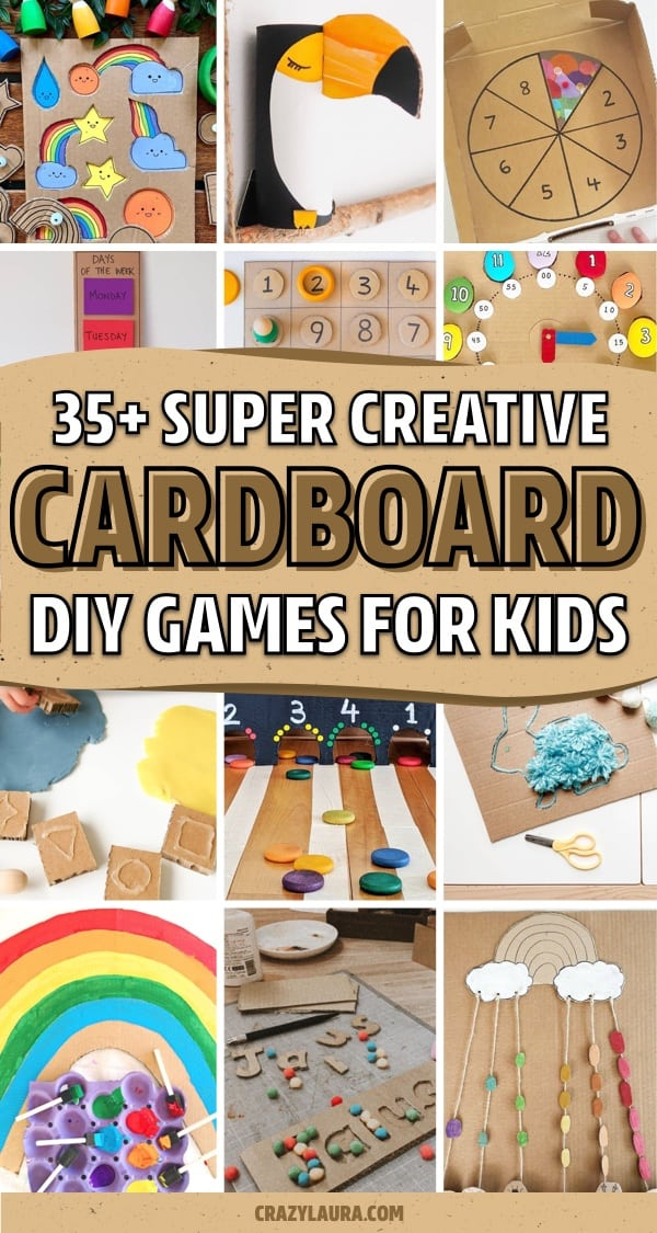 cheap kids craft with cardboard boxes