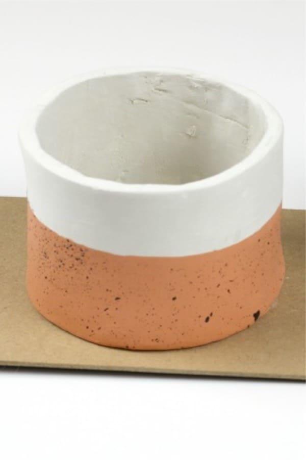 mini clay planter craft