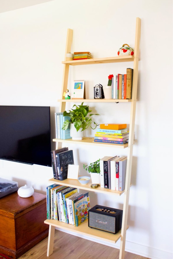 do it yourself ladder book shelving plans