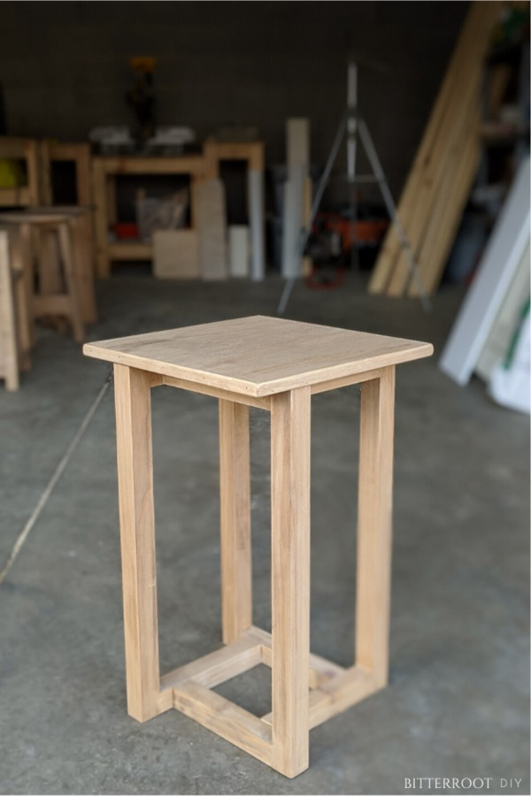 wooden do it yourself end table tutorial