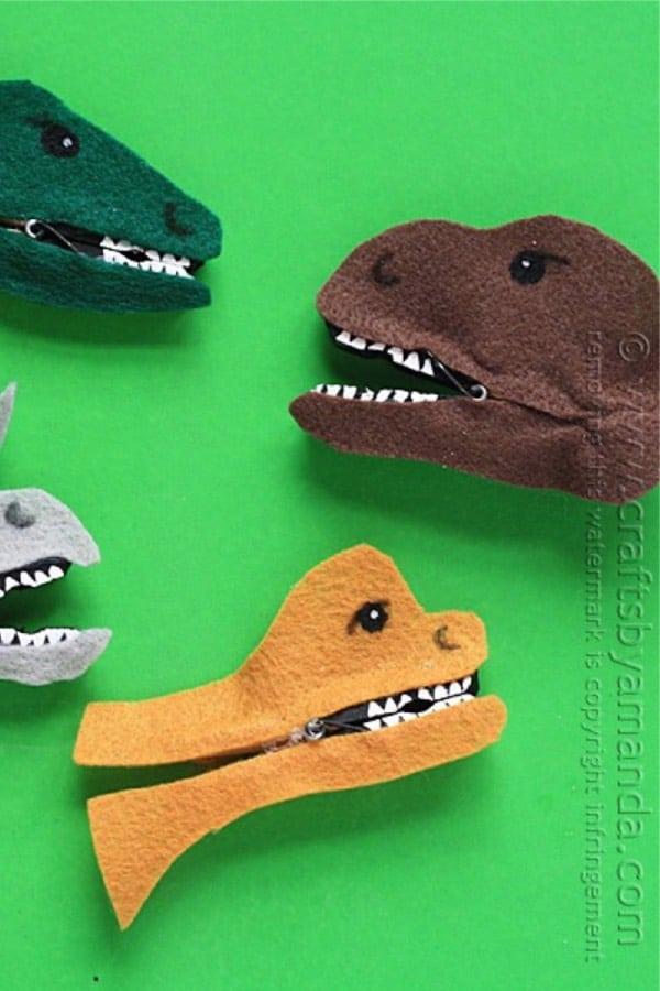 felt dinosaur craft activity for kids