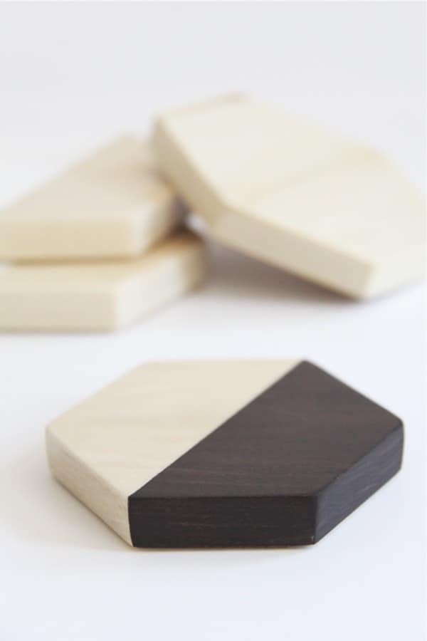 how to build geometric wood coasters