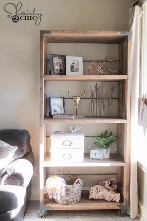 how to build industrial bookshelf