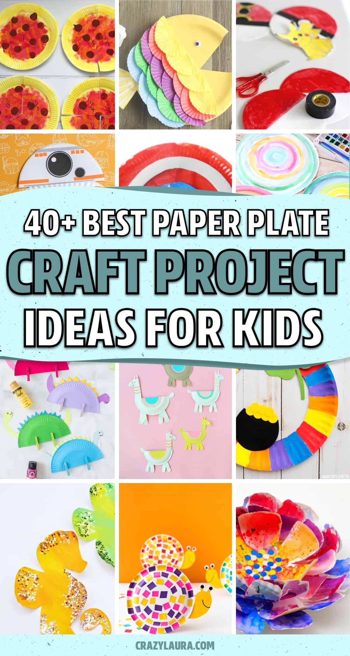 kids paper plate craft tutorials
