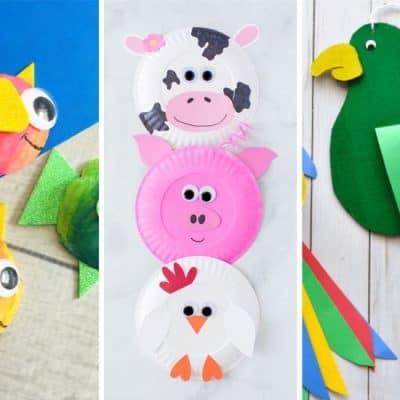 easy tutorials for kids animal crafts