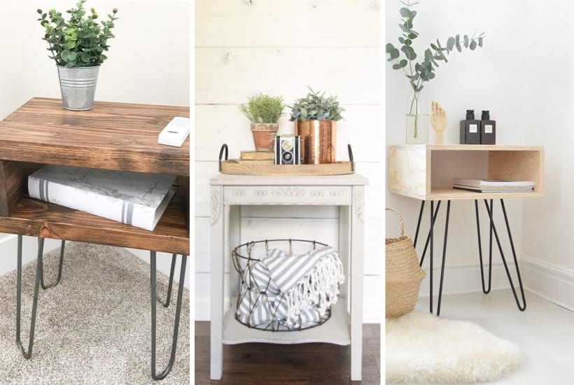 35+ Best DIY Side Table Ideas & Plans For 2020