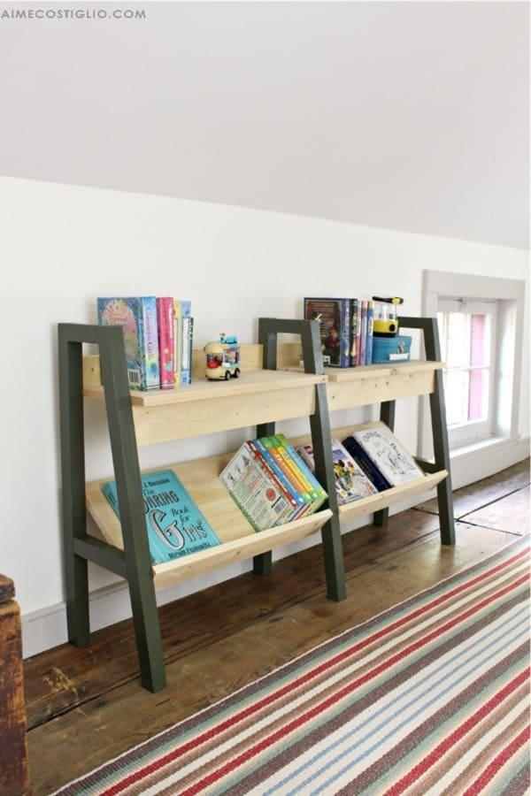 small bookshelf for bonus room