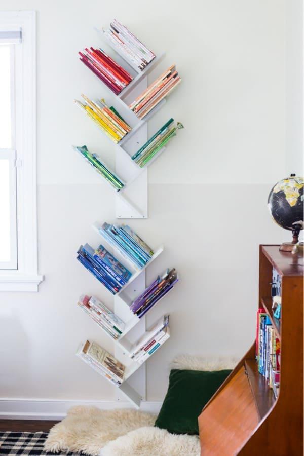 stacked bookshelf diy tutorial