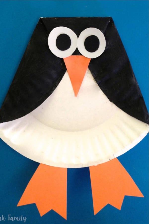 penguin paper craft for kids