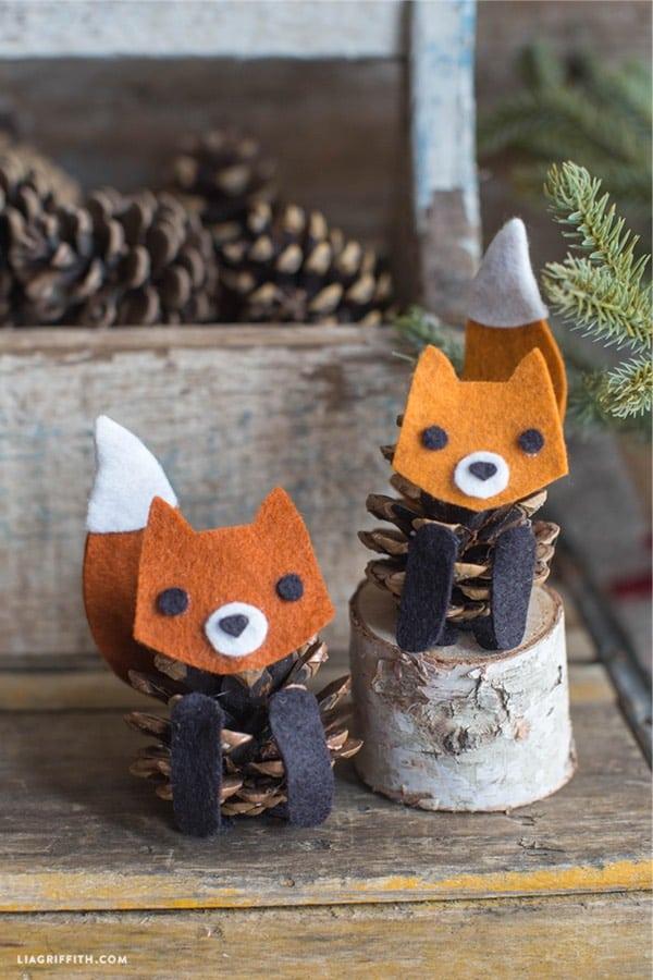 creative pinecone craft idea