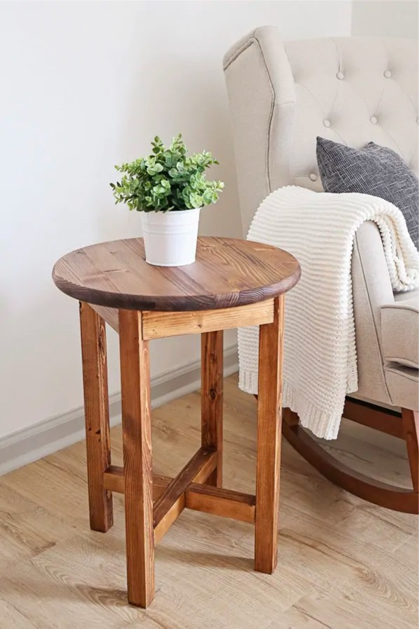 solid wood diy end table plans