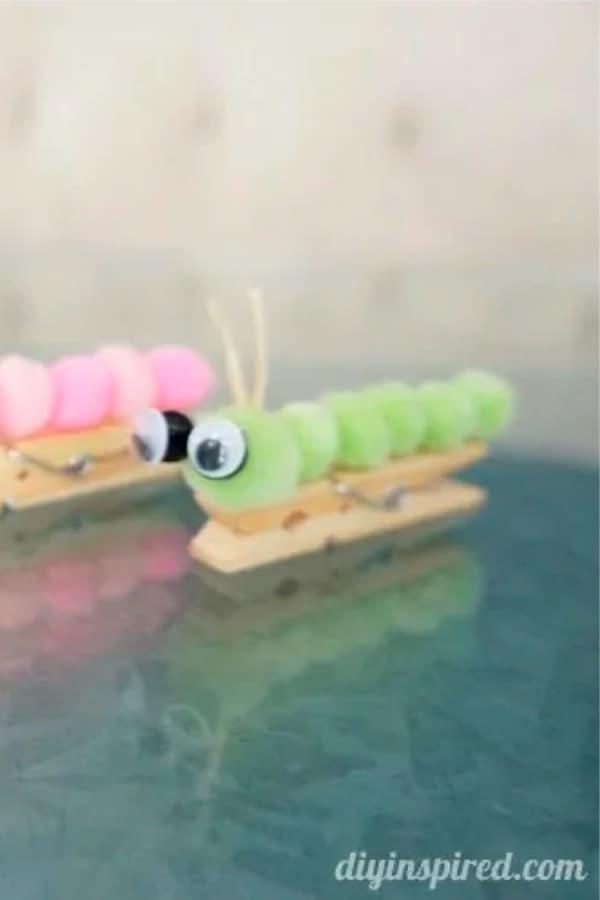 cute clothespin caterpillar kids activity