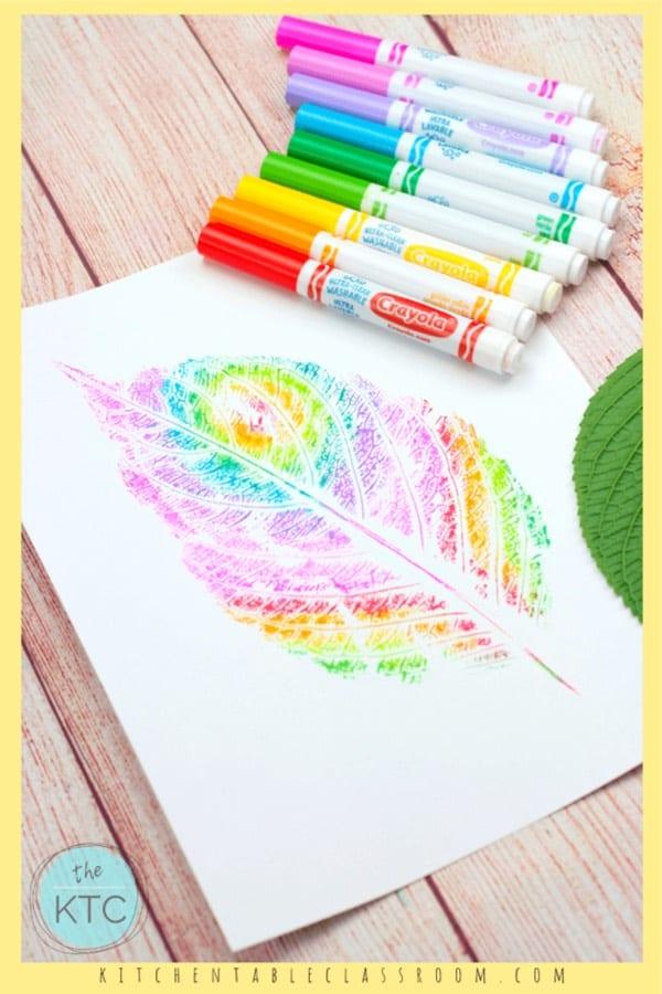 how to make kids leaf prints