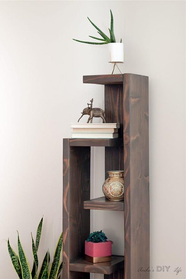 modern style bookshelving diy tutorial