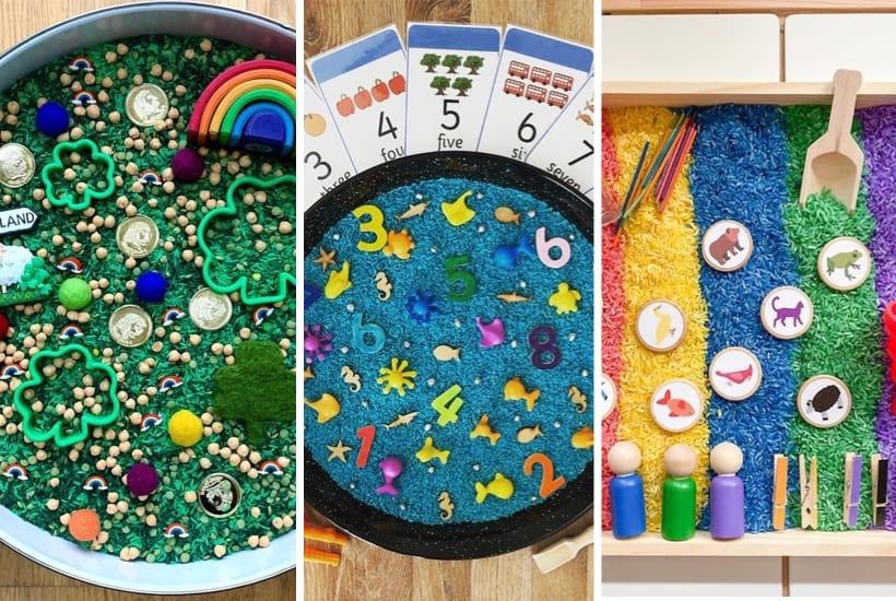 best sensory bin filling examples