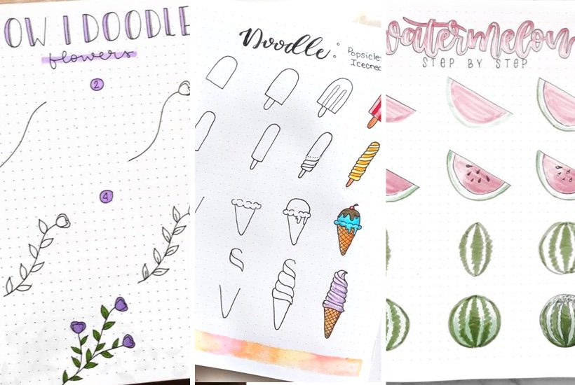 inspiration for summer bullet journal drawings