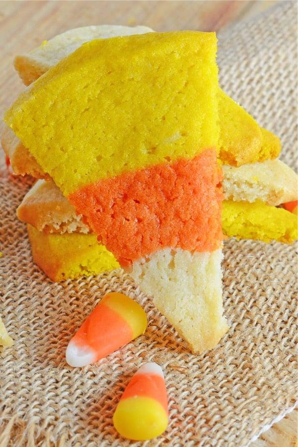 candy corn colored sugar cookie recipe