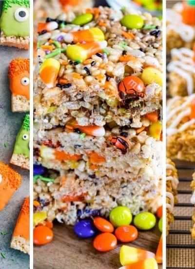 quick halloween party rice krispies
