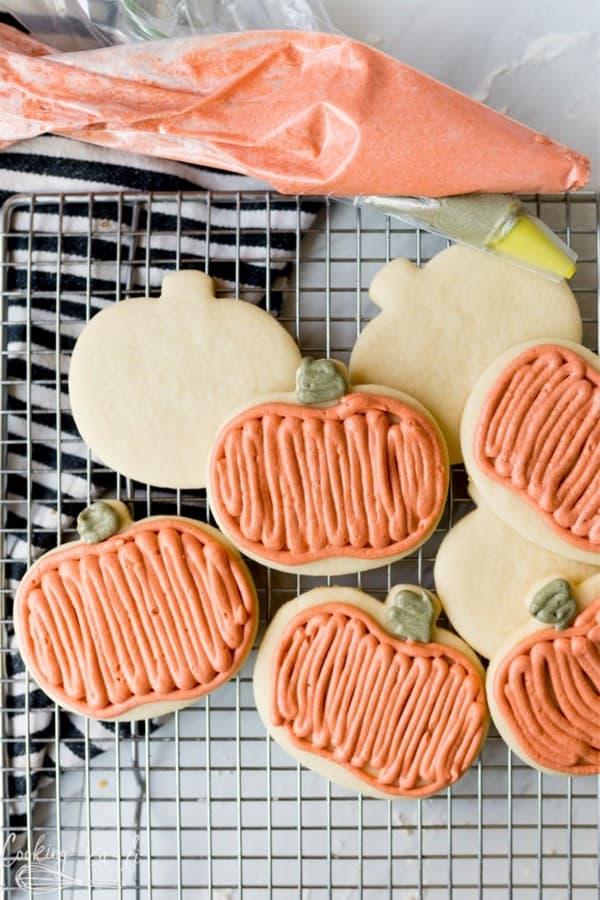 pumpkin shaped cookie recipe tutorial