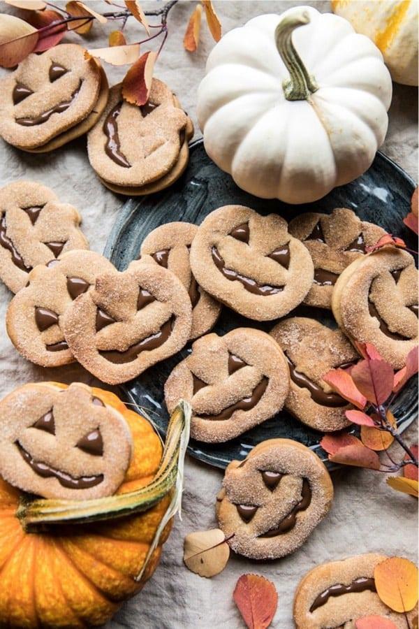 cookies with pumpkins