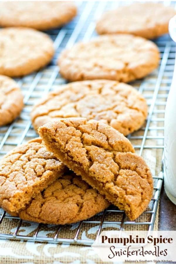 snickerdoodle cookies with pumpkin spice flavor