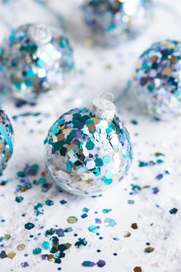 handmade glitter christmas ornaments